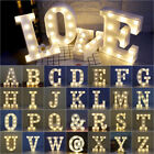Alphabet Letters LED Light up Numbers White Plastic Letters Standing Sign Decor