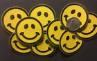 Smiley face patch smile face embroidered applique iron on patch 2 dia 8 pieces
