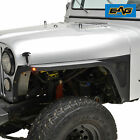 Edge Front Fender with Flair and LED Eagle Lights Fit for 76 86 Jeep Wrangler CJ
