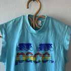 Vintage 80s PACE RAINBOW CYCLING BICYCLE JERSEY 50 50 BIKE t shirt MEDIUM PRIDE
