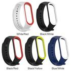 Silicone Dual Color Wristband Bracelet Watch Strap Belt for Xiaomi Mi band 3 4