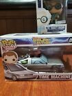 Lot of 2 Back to the Future Exclusive FUNKO POP DOC BROWN and Time Machine