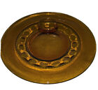 4 Vintage Colony Crown Amber Depression Glass Snack Plate Thumb Print USA
