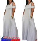 Plus Size Women's Ladies Baggy Oversized Casual Loose Sundress Maxi Long Dress
