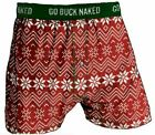 Men's Buck Naked Performance Pattern Boxers Open Season Medium