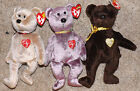 Ty Beanie Babies set of 3 different Signature Bears 1999, 2000,