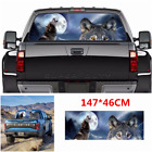 147x46cm Car Rear Window Wolf tribe Night Forest Howling Graphic Decal Sticker