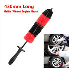 Universal 430mm Long Car Motorcycle Grille Wheel Brush Wash Valet Cleaning Tool