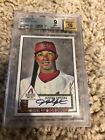 Justin Upton 2007 Topps 1952 Rookie Edition Rookie Card Auto BGS 9 10