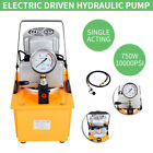 10000PSI Electric Driven Hydraulic Pump Single Acting Manual Valve 110V