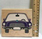 Vtg Posh Impressions Family Auto Frame Wood Mounted Rubber Stamp Z828G Large Car