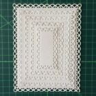 Nested Stitched Scallop RectangleMetal Cutting Dies DIY Etched Paper Card Making