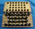 Vintage Steel Letter Punch Set 1 8 Alphabet Plus  and  In Wood Case