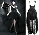 Gothic Lolita Victorian Party Wedding Lace Train Dress Prom Ball Corset PunkRave