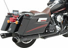 PYTHON Rayzer Slip On Exhaust Mufflers Black for 95 16 for Harley Davidson