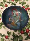 Vtg mid century POLIA PILLIN studio ART POTTERY dish PLATE woman w bird