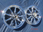 Harley Chrome 9 Spoke Deluxe Fatboy FLSTC Wheels Rims 1990 2007 FLSTF Heritage