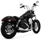 Vance  Hines 2 into 1 Upsweep Chrome Exhaust System for Harley Dyna 2006 2017