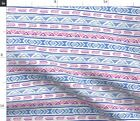 Boho Stripe Khaus Native American Hippie Pink Fabric Printed by Spoonflower BTY