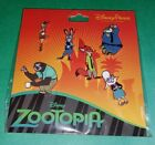 Disney Pins Zootopia Booster Set Authentic Disney Parks NEW FREE SHIPPING