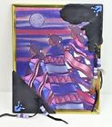 Reflective Art Print 3 Native American Women Under Moon 8X10 Leather Embellished