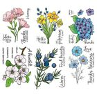 Various Flowers Silicone Stamp Rubber Seal Transparent Clear Scrapbook Album DIY
