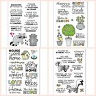Animals Garden House Silicone Stamp Rubber Seal Album Embossing DIY Crafts 4x6in