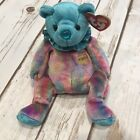 Ty Beanie Baby Turquoise December Birthstone Teddy Happy Birthday Bear With Tag