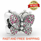 Authentic Pandora Charms 925 ALE Sterling SILVER BUTTERFLY Bracelet Bead Charm