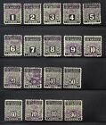 US stamp PN 1 18 Used Postal Notes complete set