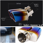 25 Universal Car Stainless Steel Square Dual Exhaust Tail Pipe Muffler Tip