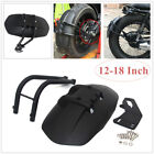 Motorcycle Modified Rear Wheel Fender Mudguard Splash Sand Guard 12-18 Inch PVC