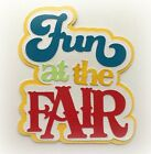 FUN AT THE FAIR TITLE PREMADE PAPER PIECING 3D DIE CUT BY MYTEARBEARS KIRA