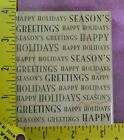 SEASONS GREETINGS  HAPPY HOLIDAYS Christmas background Hero Arts rubber stamps