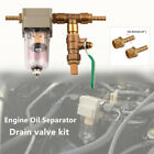 Car Engine Oil Separator Catch Can Air Filter With Drain Valve Kit Fit For Honda
