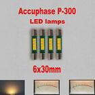 4x Accuphase P-300 Fuse Type LED Warm White Front VU Meter Bulbs LED Replacement