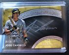 Topps Five Star Silver Signatures ON CARD Auto Jose Canseco Auto Gold 10 10