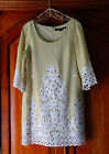 Embroidered Die Cut Lace and Linen Dress by Quotation Size 12