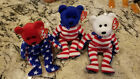TY Beanie Babies - LIBERTY BEARS 2001 (set of 3 - Red White Blue Heads)