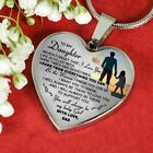 To My Daughter Necklace Heart Father And Daughter Pendant Gifts From Daddys