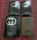 Lot 4 Gucci Guilty Pour Homme EDT & Absolute EDP Samples *NEW *FREE SHIP