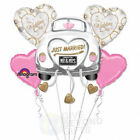 Just Married Our Wedding Day 5pc Mylars Wedding Bouquet Foil Balloons Decor