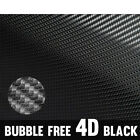 4D Auto Glossy Gloss Black Vinyl Wrap Film Cars Stickers Decal with Waterproof