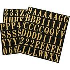 Gold Self Adhesive Mylar Mailbox Letters and Numbers Sticker 1 in Indoor Outdoor