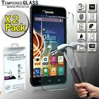 2 Pack Tempered Glass Film Screen Protector Cover For Philips Xenium V526
