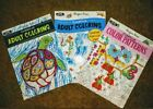 3 New Creative Adult Coloring Books Various Pictures NEWEST in series
