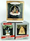 Hallmark Ornaments Forest Frolics, Chris Mouse Cookout, Crystal Bell