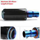 Motorcycle Stainless Steel Exhaust Muffler Pipe Roasted Blue Silencer 38 48MM