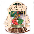382Inch Candle Holders Nativity Decoration Heat driven Rotation Wooden Windmill