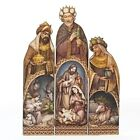 Roman 24 Tri Panel Three Kings Holy Family Nativity Plaque Christmas NEW